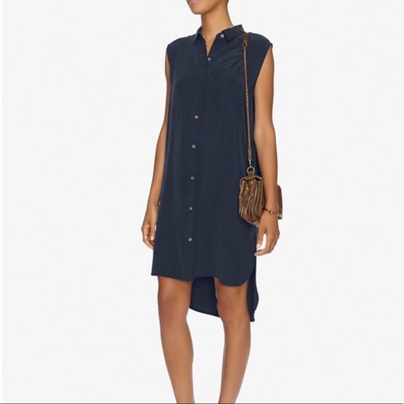 Frame Denim Dresses & Skirts - Frame Robe-Chemise Sans Manches Shirt Dress XS